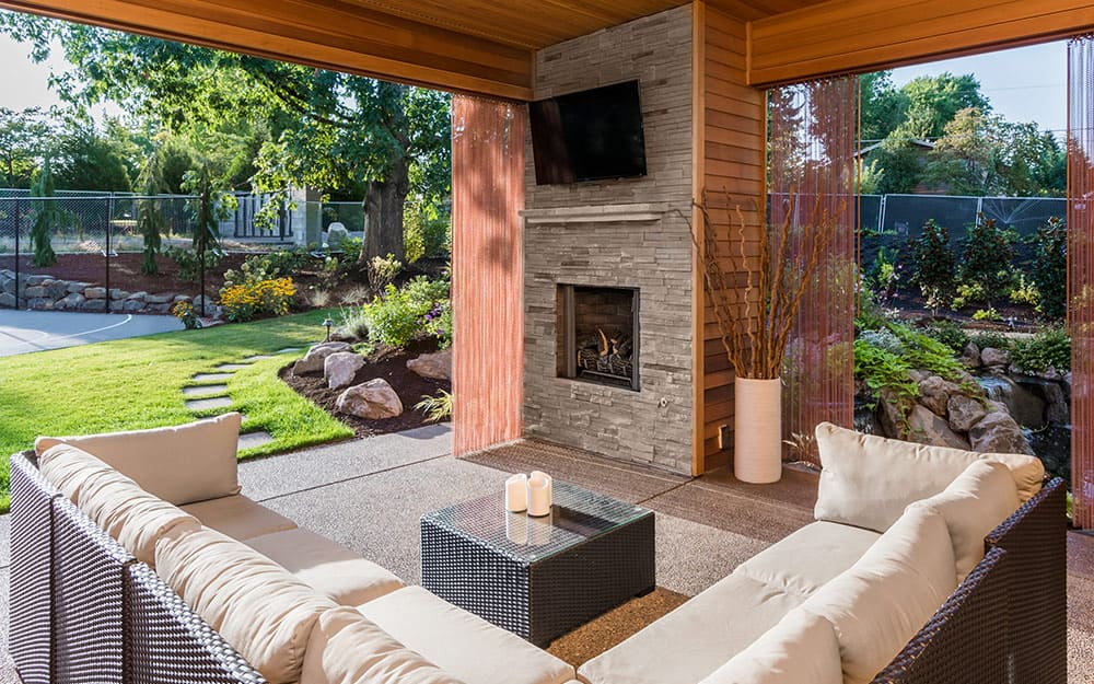 Outdoor Fireplace Ideas The Home Depot, Patio Fireplace Designs