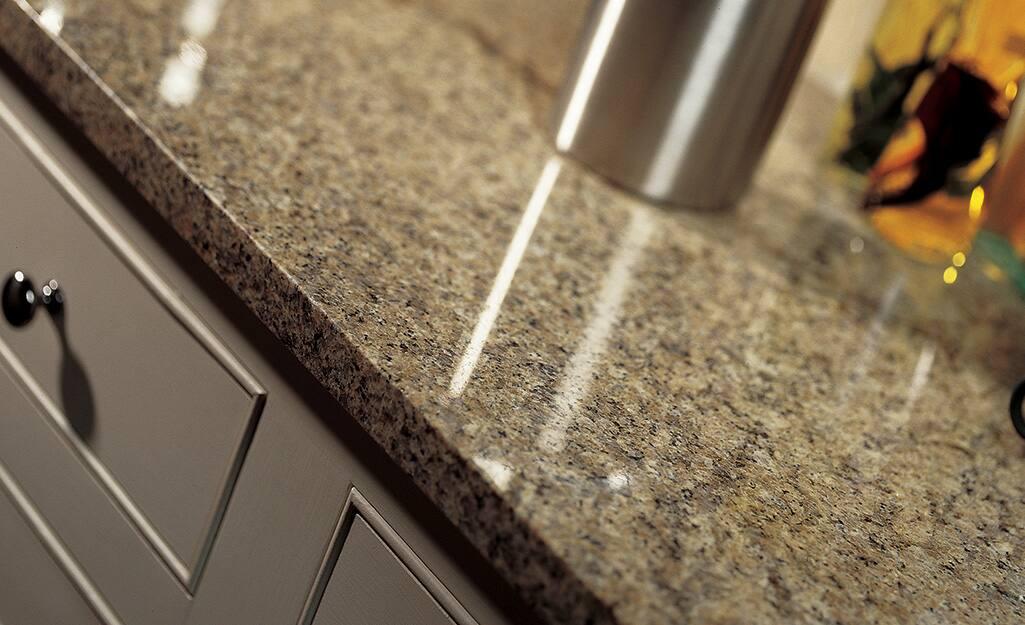 Natural brown-toned granite countertop.