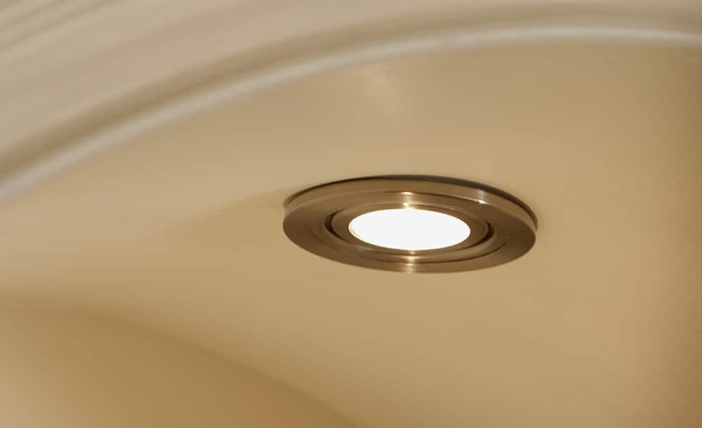 A gimbal trim recessed light.