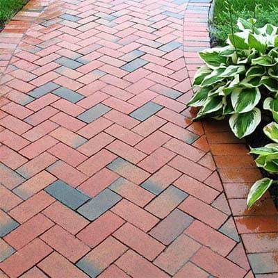 Rustic Simplicity: DIY Herringbone Garden Path