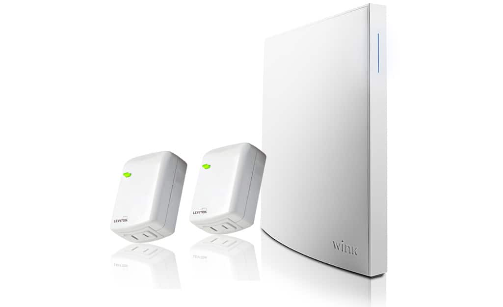 A smart home device shown with hub elements.