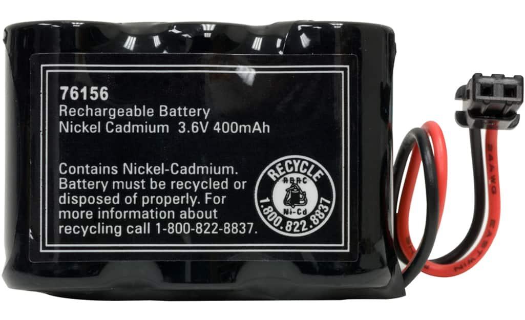 A closeup of a nickel cadmium battery.