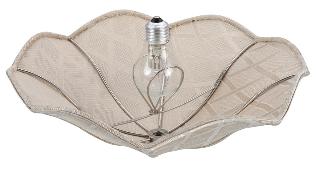 A lamp shade with a clip on fitter.