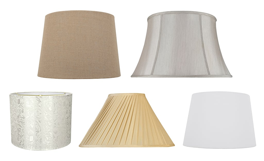 Different types of lamp shades.