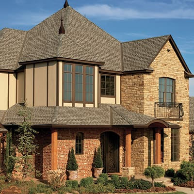 A large home with a new roof.