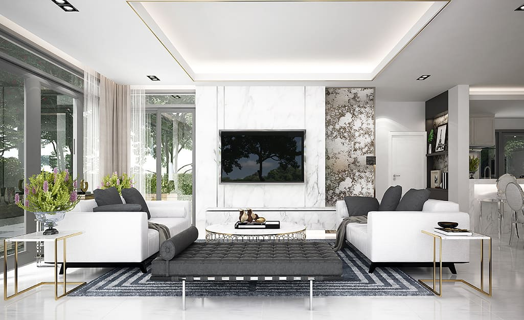 White Living Room Ideas The Home Depot