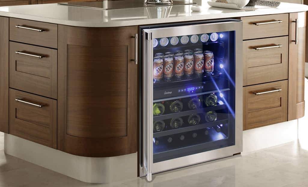 A dual zone built-in wine cooler.