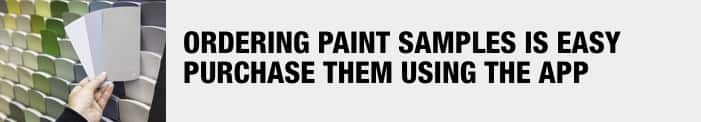 ordering paint samples
