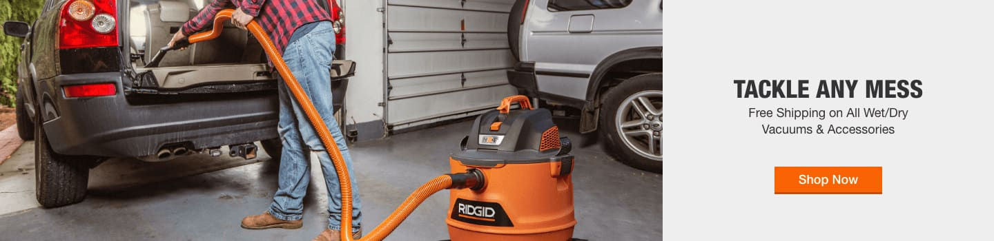 Free Shipping on All Wet/Dry Vacuums & Accessories