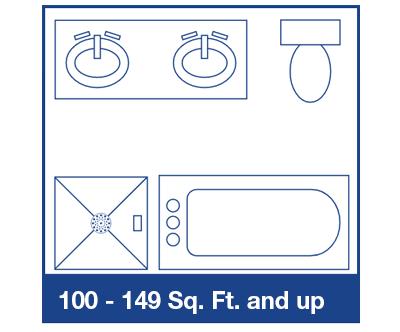 100sq Ft + bathroom diagram