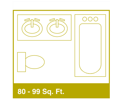 80-99 sq ft bathroom diagram