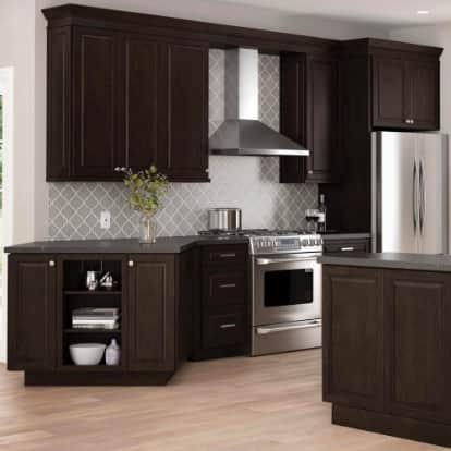 Gretna Espresso Raised Panel Cabinets