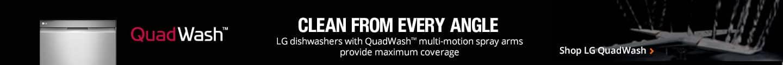 QuadWash multi-motion spray arms provide max coverage