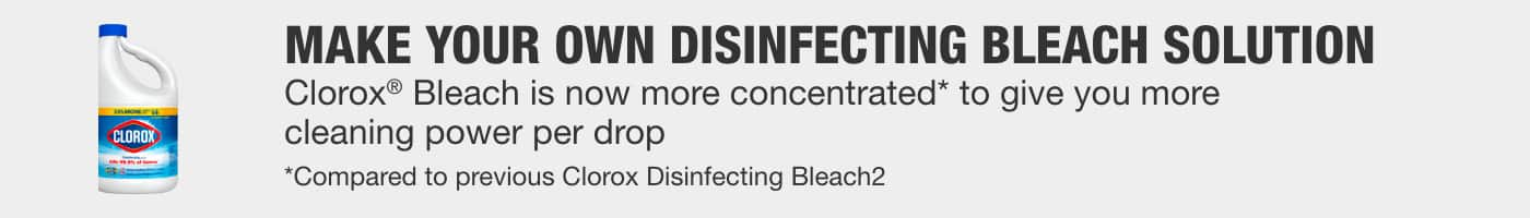 Make your own disinfecting bleach solution