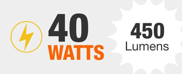 40-Watt Equivalent Light Bulbs