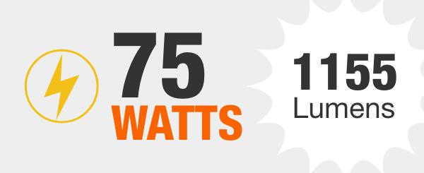 75-Watt Equivalent Light Bulbs