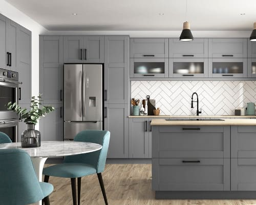 J Collection Gray Cabinets