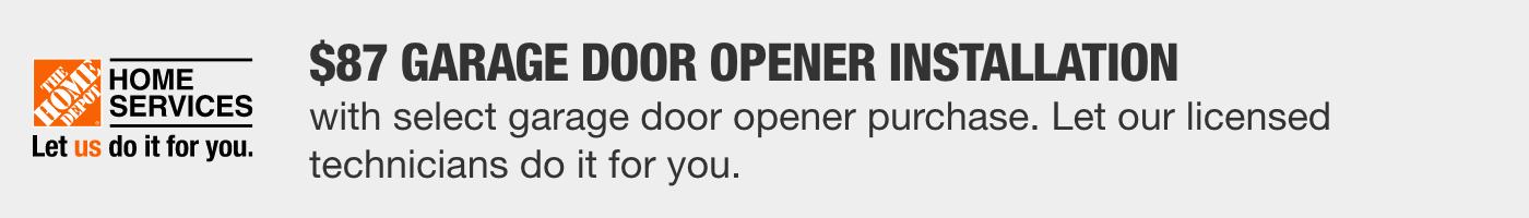 $97 Garage Door Opener Installation