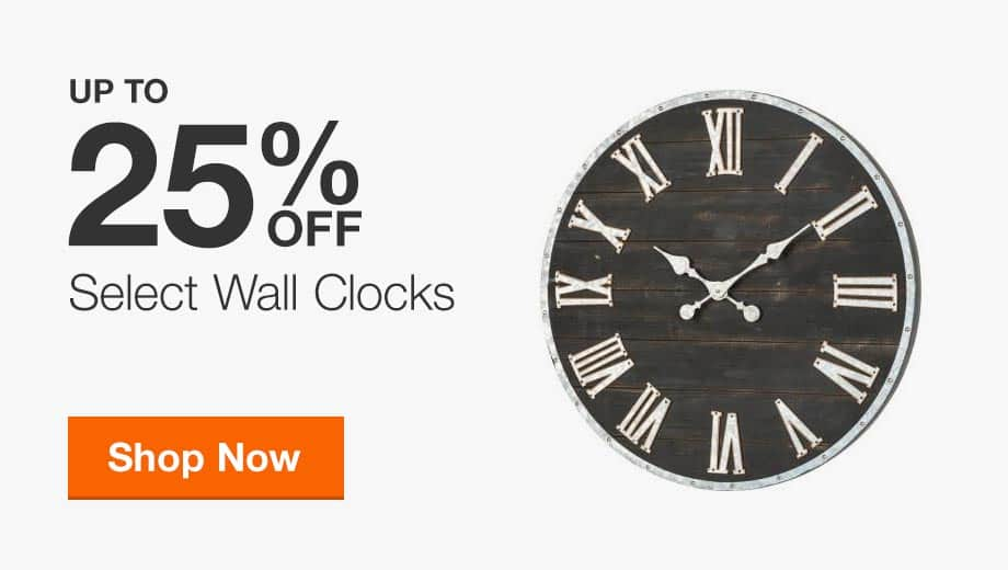 Up to 25% Off Select Wall Clocks