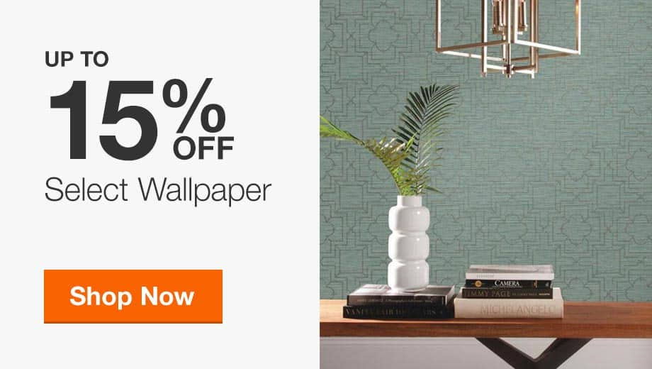 Up to 15% Off Select Wallpaper
