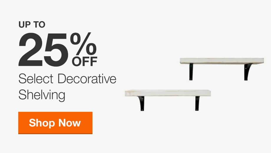 Up to 25% Off Select Decorative Shelving
