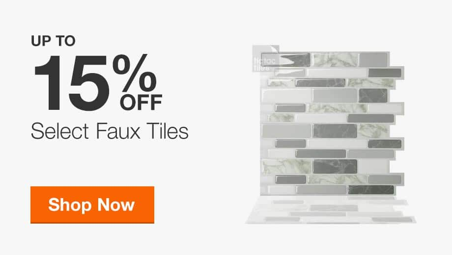 Up to 15% Off Select Faux Tiles