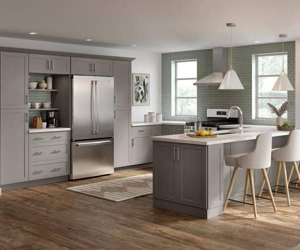 Hampton Bay Cambridge Gray Cabinets