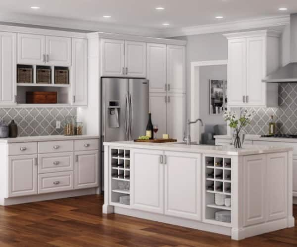 White Kitchen Cabinets, Kitchen Cabinet Cost Home Depot