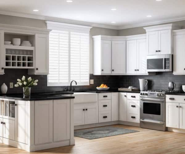 White In Stock Kitchen Cabinets The Home Depot