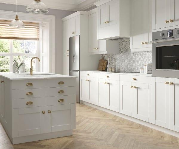 J Collection Vanilla White Cabinets
