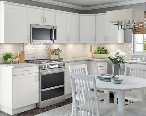 Hampton Bay Cambridge White Cabinets