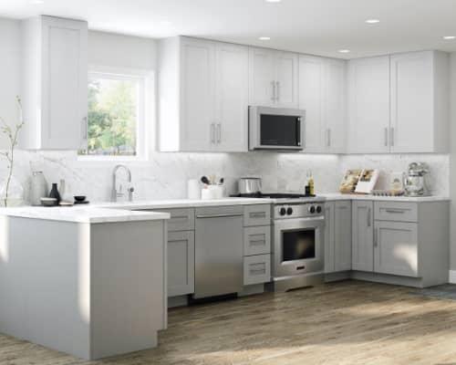 Contractor Express Winchester Vesper White Cabinets