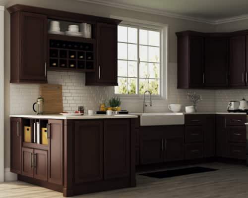 Dark Kitchen Cabinets The Home Depot