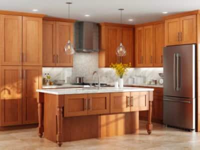 Medium Brown Kitchen Cabinets Kitchen The Home Depot