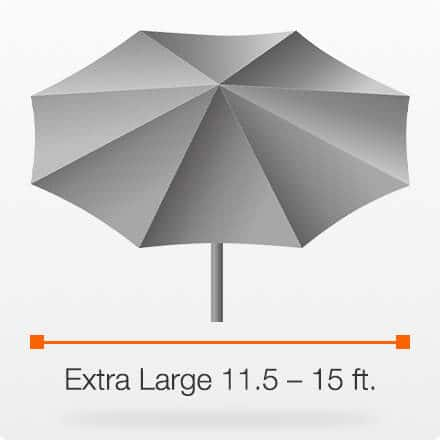 Extra Large 11.5 – 15 ft.
