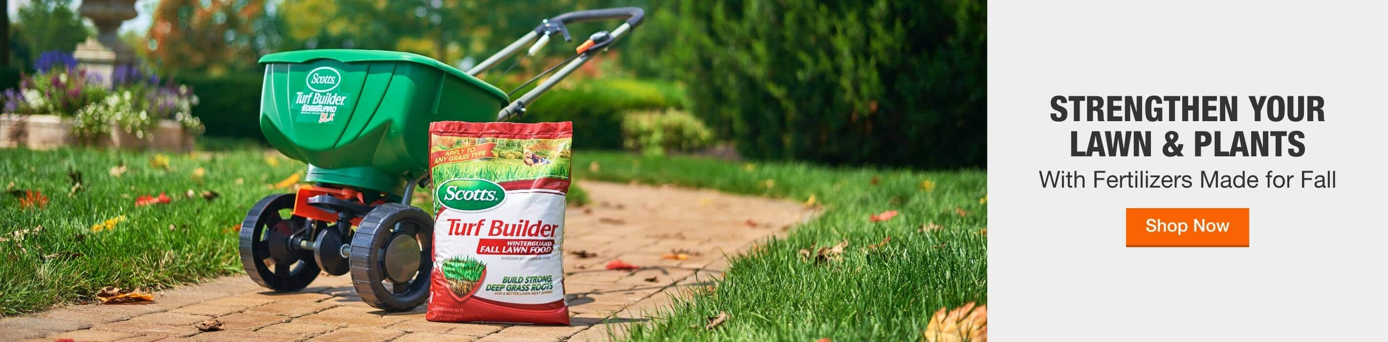 STRENGTHEN YOUR LAWN & PLANTS With Fertilizers Made for Fall Shop Now