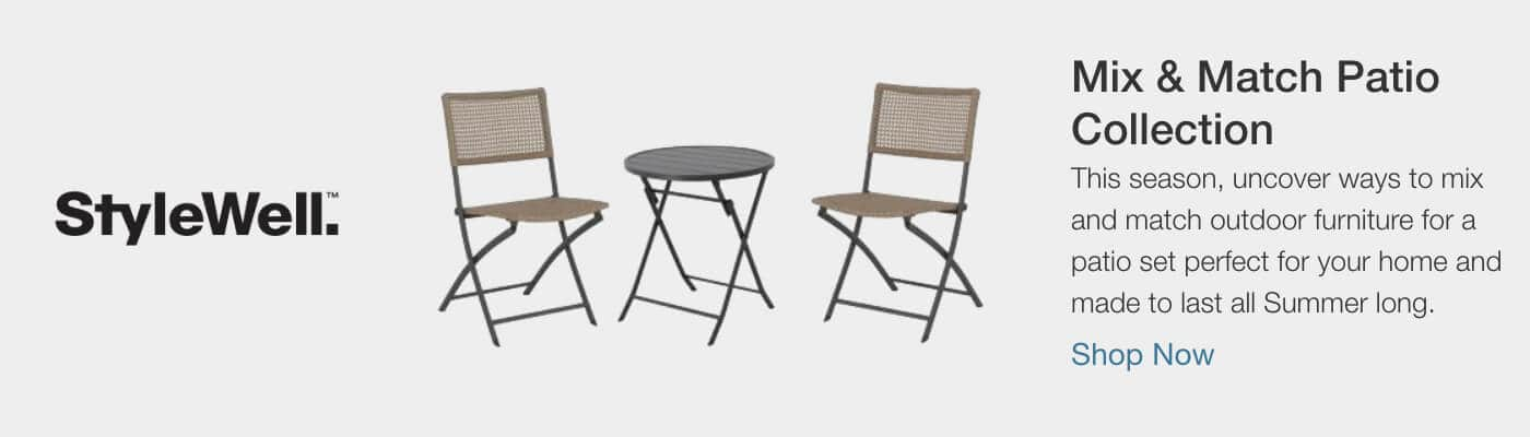 Mix & Match Patio Collection - This season, uncover ways to mix and match outdoor furniture for a patio set perfect for your home and made to last all