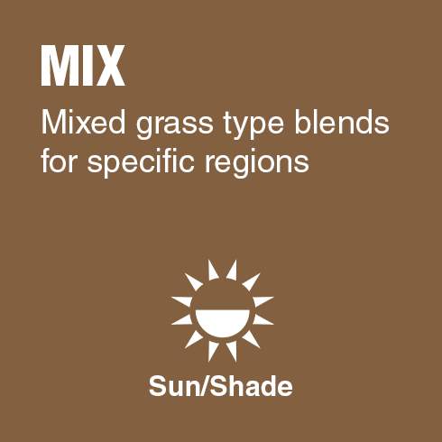 Mix - Mixed grass type blends for specific regions