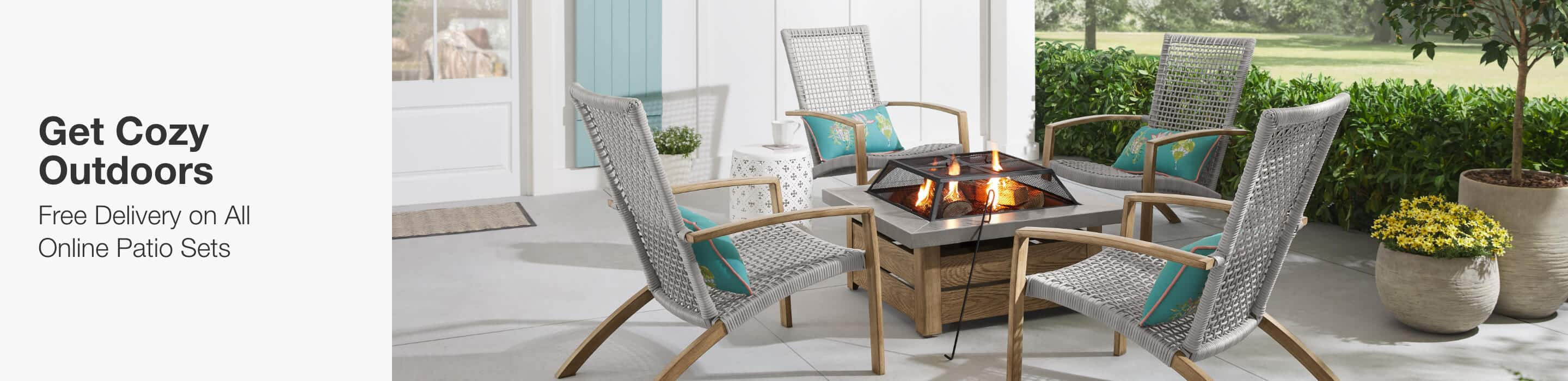 GET COZY OUTDOORS - Free Delivery on All Online Patio Sets