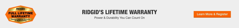 Ridgid's Lifetime Warranty
