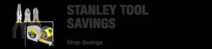 Stanley Tool Savings. Shop Savings.