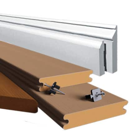 This is an image of the materials a Trex blade cuts