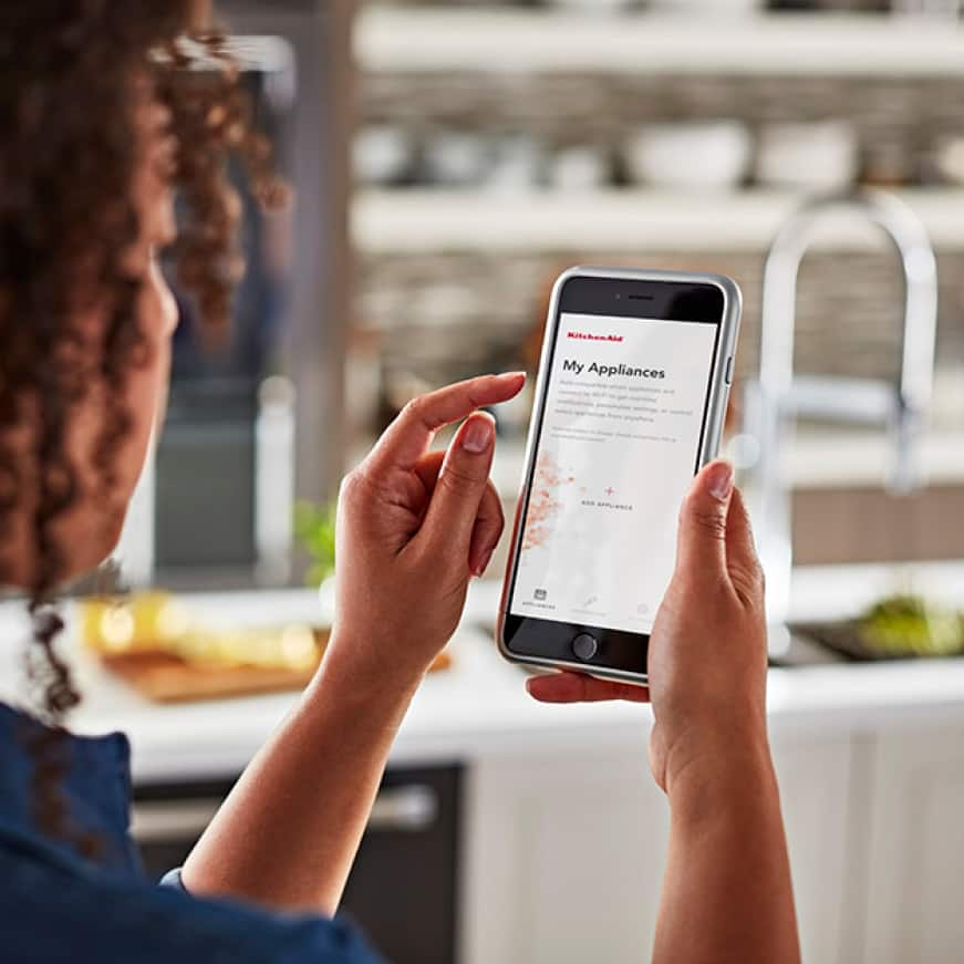 Smart features available with WiFi and mobile app when appliance is set to remote-enable.