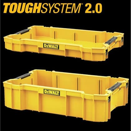 DWST08300 ToughSystem 2.0 Toolbox Deep and Shallow Trays for optimal organization. Sold Separately.
