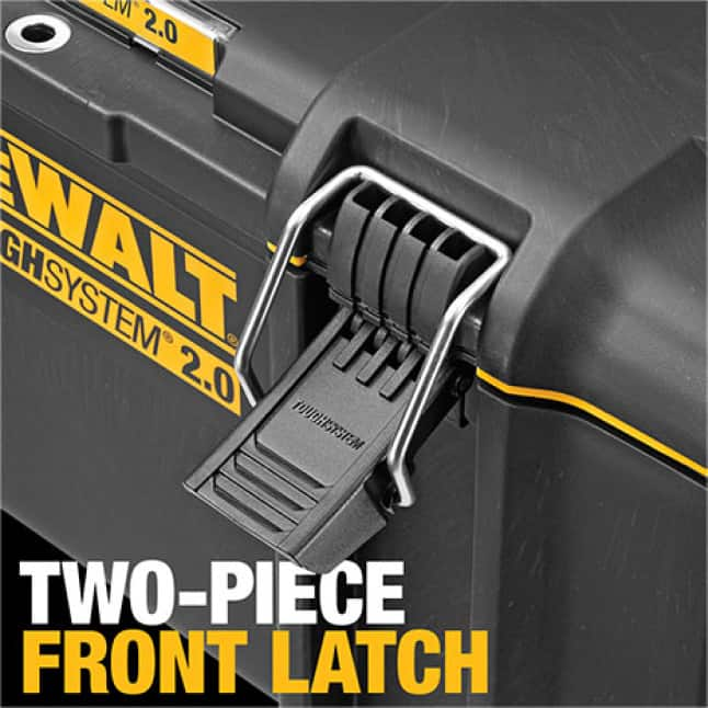 DWST08300 ToughSystem 2.0 Toolbox with Durable Two-Piece Front Latches