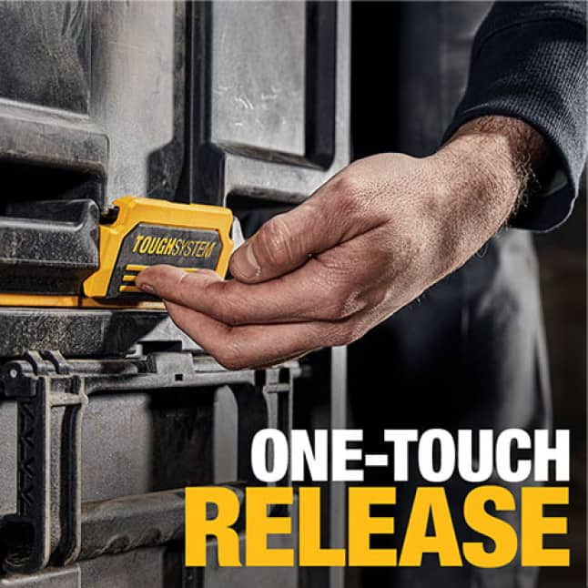 DWST08300 ToughSystem 2.0 Toolbox with one-touch release