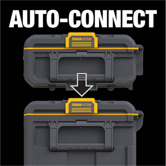DWST08300 ToughSystem 2.0 Toolbox with patented auto-connect side latches