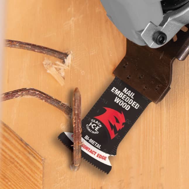 This is an image of an OMT Blade Cutting a Nail