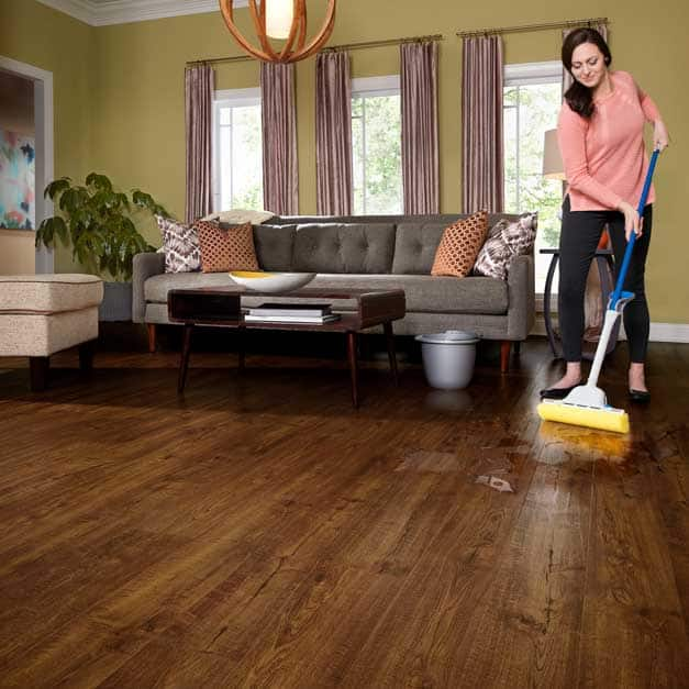 Wet or steam mopping allowed on waterproof laminate flooring