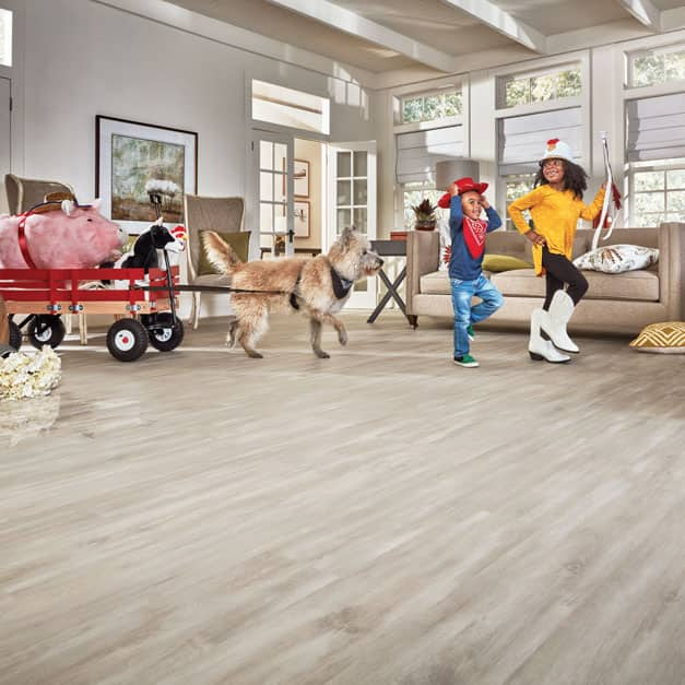 Wood-look flooring with premium performance
